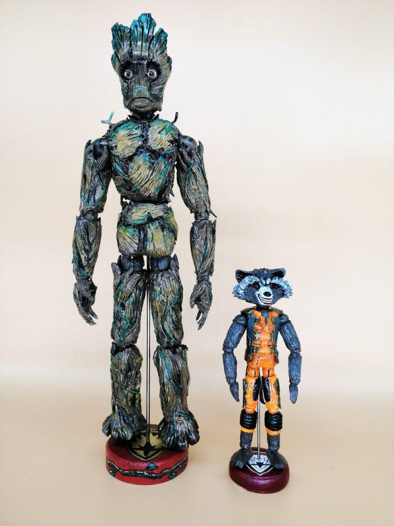 Groot y Rocket. Guardianes de la Galaxia 2014